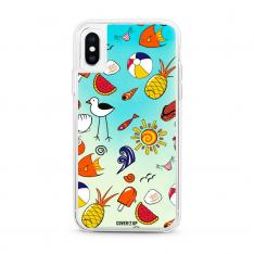 Beach Pattern Blue Lagoon Neon Sand Glow Case