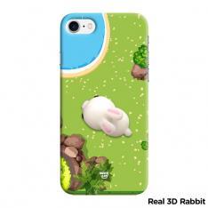 Real 3D Squishy Garden Rabbit Case